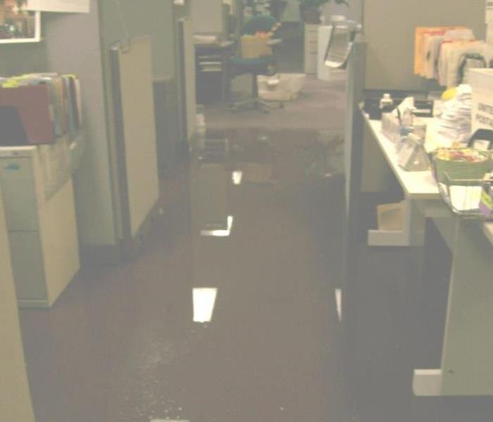 Large Business Water Damage Before
