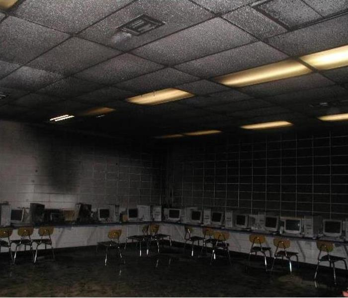 School Fire in Computer Lab Before
